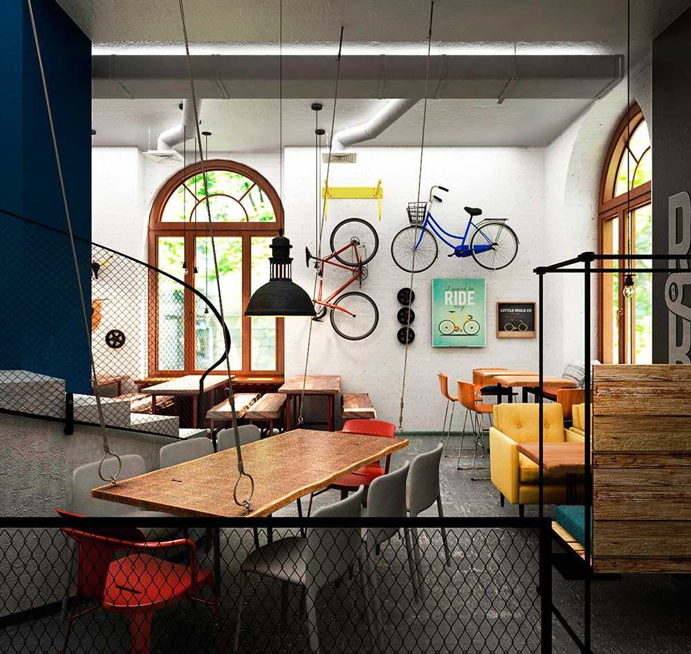 Druzi Café ул. Прорезная 5, 150 м2
